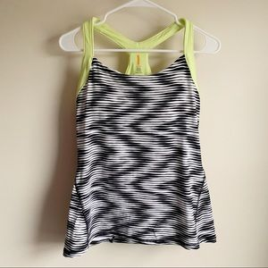 Lucy Patterned Active Athletic Racerback Tank Top